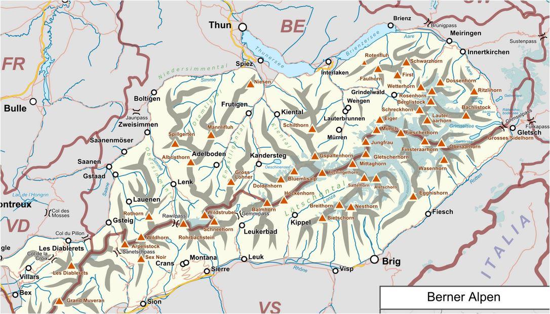 skikarte berner oberland